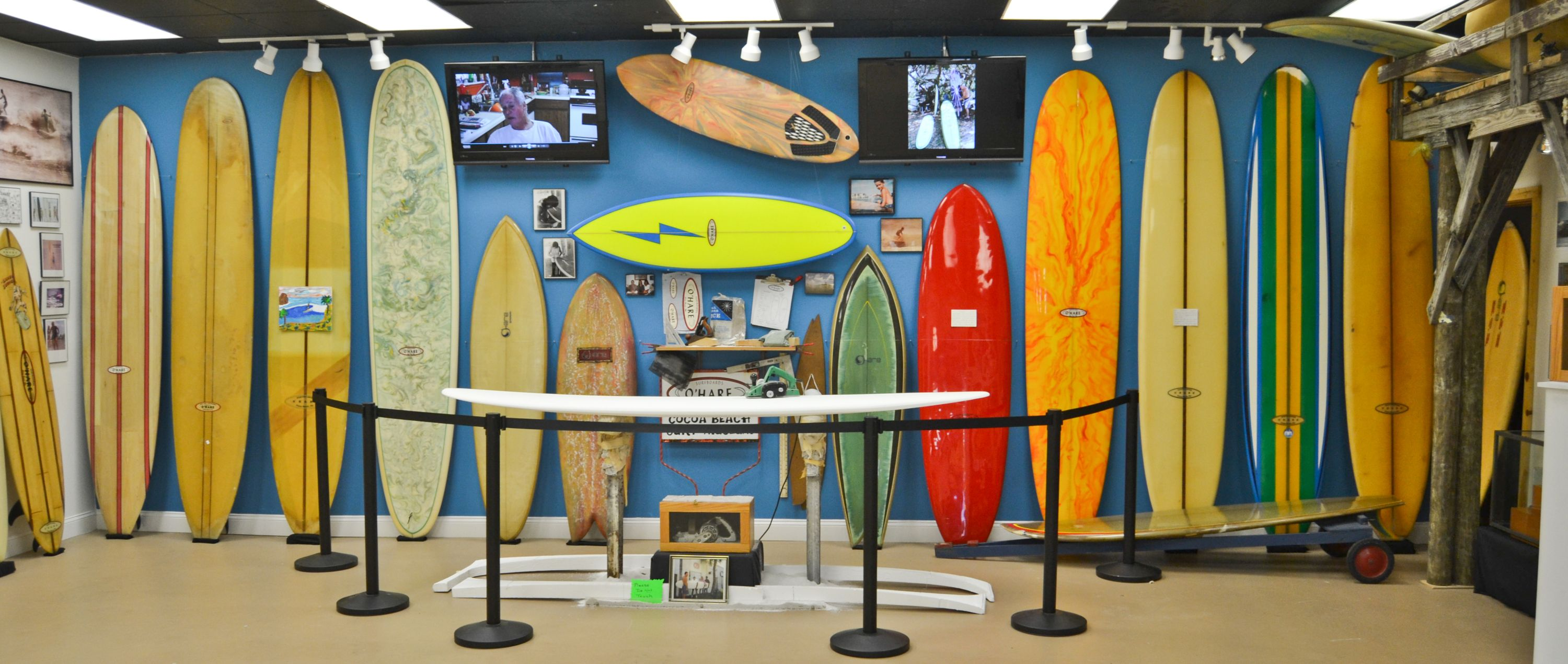 Pat O Hare Exhibit At The Cocoa Beach Surf Museum